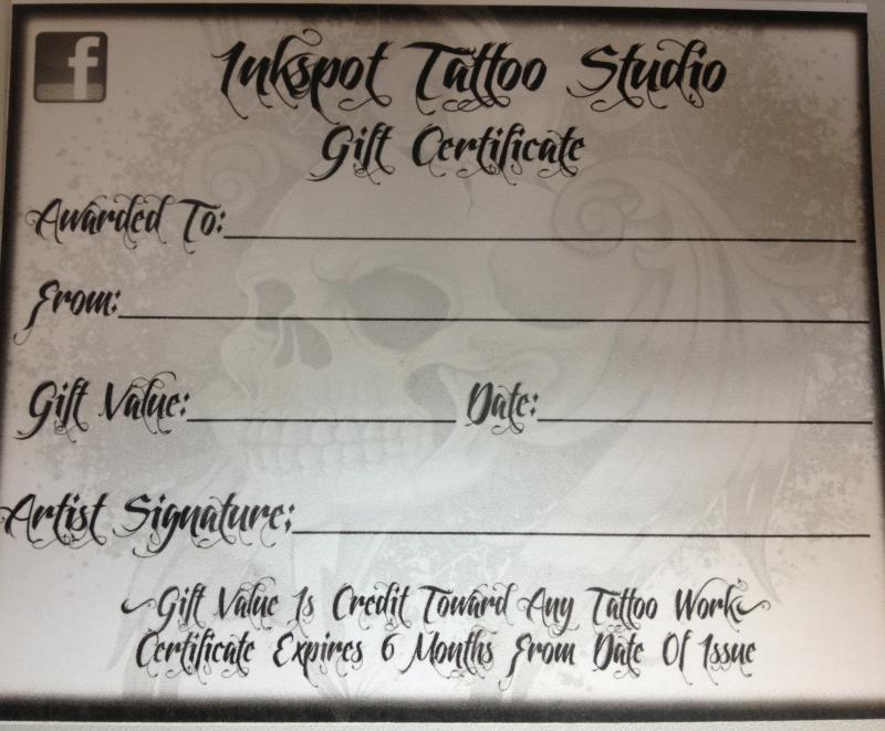 blank tattoo certificate pictures to pin on pinterest tattooskid. Black Bedroom Furniture Sets. Home Design Ideas